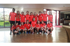 Kehrten erfolgreich von einem Lehrgang mit Teststpielen gegen Thüringen zurück: U12-Auswahl Berlins, Foto: privat
