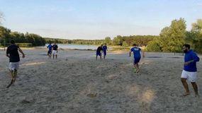 Beachsoccerfeld am Bernsteinsee in Velten, Foto: privat