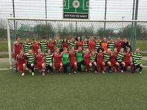 U14-Juniorinnen zu Gast beim Hamburger Fußball-Verband, Foto: privat