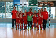4. Platz beim 3. NOFV-Hallencup in Sandersdorf: U12-Juniorinnen des BFV, Foto: M. Flottron