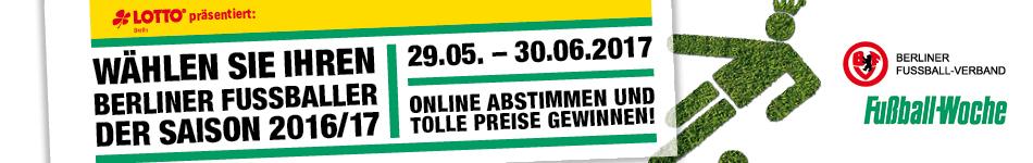 Wählen Sie Ihren Berliner Fußballer der Saison 2016/2017