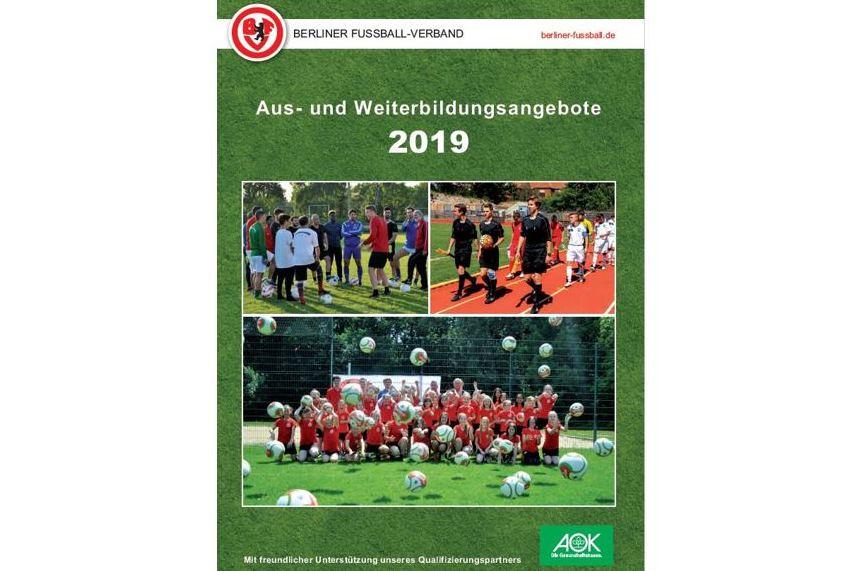 Qualifizierungsbroschüre 2019 Erhältlich ǀ Berliner Fußball Verband